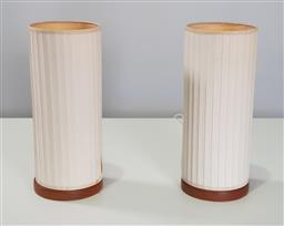 Sale 9218 - Lot 1071 - Pair of fabric table lamps (h:36cm)