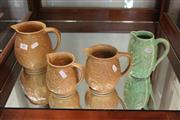 Sale 7977 - Lot 83 - Set of 3 Graduated Sylvac Jugs and another