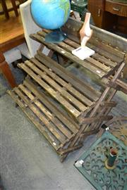 Sale 8115 - Lot 1057 - Rustic 3 Tier Plant Stand