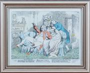 Sale 8308A - Lot 103 - An C18th hand coloured engraving, 'Bandelures', published by S W Fores of Picadilly, numbered in pencil 1779/2500, as framed 41 x 51c