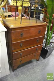 Sale 8341 - Lot 1076 - Raised Timber Chest of Four Drawers