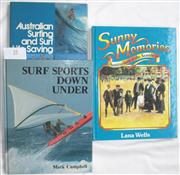 Sale 8431B - Lot 25 - Mark Campbell. Surf Sports Down Under, Golden Press 1982, 64 pages. Pictorial Hardcover; and Jack Wilson, Australian Surfing and Sur...