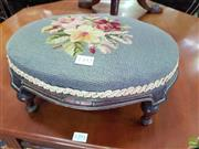 Sale 8566 - Lot 1392 - Small Tapestry Footstool