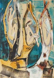 Sale 8779 - Lot 2044 - Barbara Blakemore-Fowler (1921 - 2004) - 3 Figures 56 x 39.5cm