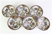 Sale 8894 - Lot 18 - Set Of Six Satsuma Japanese Bowls (Dia 15cm)