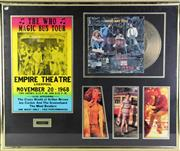 Sale 8940 - Lot 38 - Large Framed Memorabilia The Who Incl Record And Tour Poster