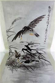 Sale 8968 - Lot 77 - Bird themed Chinese scroll