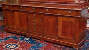 Sale 9020H - Lot 20 - Seven drawer four door sideboard with lion handles H81xW214D49cm
