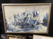 Sale 9028 - Lot 2034 - Peter A. Panow South of France, oil on board,frame: 63 x 93 cm, signed lower right