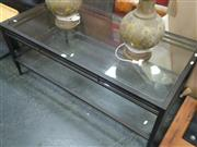 Sale 7969A - Lot 1010 - Tiered Metal Based Coffee Table with Glass Top