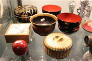 Sale 8086 - Lot 82 - Japanese Lacquer Ware Bowls & Containers