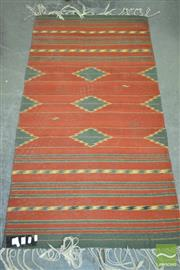 Sale 8257 - Lot 1062 - Woollen Rug with geometric patterns (151 x 79cm)