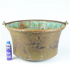 Sale 8351A - Lot 52 - Large French Copper Swing Handle Pot diameter 59cm depth 34cm(approx weight 10kg)