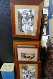 Sale 8362 - Lot 2104 - 2 Mexican Watercolours Photo Prints of Early Epping & Frame