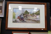 Sale 8468 - Lot 2009 - John Kenders Watercolour Train SLR