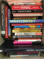 Sale 8539M - Lot 271 - Box of Books on Magic, incl First Edition Magic by William Goldman, 1976 and fortune-telling books