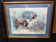 Sale 8699 - Lot 2033 - Jan Booce - Fish, watercolour, SLR