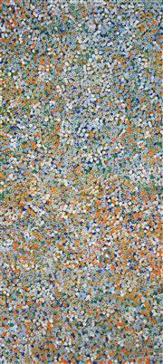 Sale 8781 - Lot 540 - Belinda Golder Kngwarreye (1986 - ) - Bush Plum Dreaming 204 x 91cm