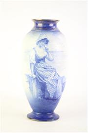 Sale 8827D - Lot 76 - Burselem Ware Blue and White Vase H: 29cm