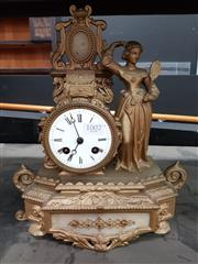 Sale 8834 - Lot 1007 - Cast Brass French Mantle Clock, circa 1845 - Valuation certificate and key in office