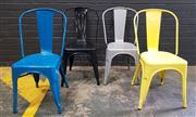 Sale 8996 - Lot 1054 - Set of 4 Tolix Style Chairs (h:66 x w:36cm)
