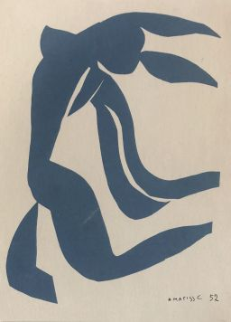 Sale 9150J - Lot 74 - HENRI MATISSE (1869 - 1954, FRENCH) Blue nude Lithographic print