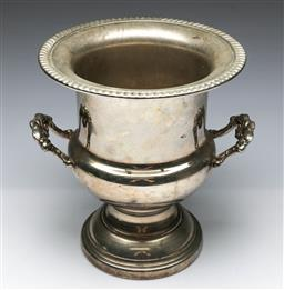 Sale 9164 - Lot 53 - A silverplated twin handle champagne bucket (H 25cm)