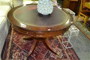 Sale 8093 - Lot 1366 - Regency Style Drum Table