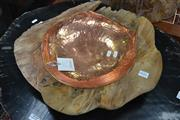 Sale 8115 - Lot 1446 - Teak Bowl with Copper Inlay