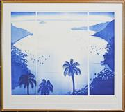Sale 8161A - Lot 58 - Peter Hickey (1943 - ) - Harbour Moon, 1985 (triptych) 88 x 102cm (total)