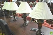 Sale 8302 - Lot 1081 - Set of 4 Glass Table Lamps