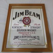 Sale 8579 - Lot 41 - A Jim Beam bar mirror, H72 x W 57cm