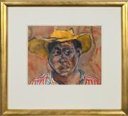 Sale 8741A - Lot 15 - Donald Friend (1959 - 1989) - Stockman, 1987 23 x 27.5cm