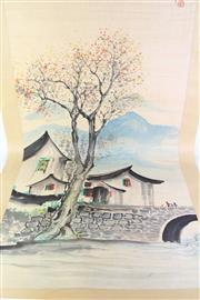 Sale 8788 - Lot 73 - Hand Painted Chinese Scroll By Wu Guan Zhong