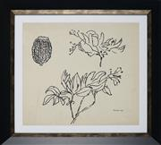 Sale 8914 - Lot 2006 - Desiderius Orban (1884 - 1986) Floral Study, 1963 ink on paper, 35 x 39cm, signed and dated -