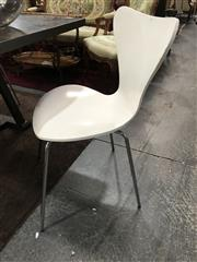 Sale 8893 - Lot 1097 - Set of 8 White Ant Style Dining Chairs