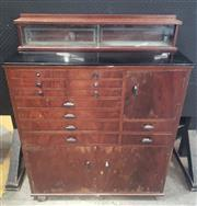 Sale 9039 - Lot 1011 - Well Fitted 1940s Dental Cabinet (H: 112, W: 86, D: 35cm)