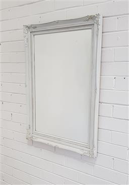 Sale 9151 - Lot 1246 - Painted timber frame mirror ( 90 x 65cm)