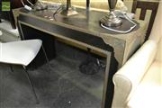 Sale 8227 - Lot 1051 - Timber Hall Table with Pressed Metal Mounts