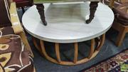 Sale 8302 - Lot 1067 - Circular Coffee Table over Bamboo Base