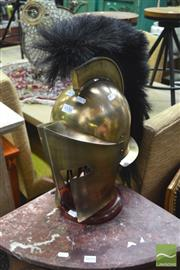Sale 8328 - Lot 1036 - Hair Top Gladiator Helmet on Stand