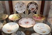 Sale 8330T - Lot 200 - Shelley Cabinet Plate with Other Floral Plates incl. Royal Worcester & Doulton Burslem