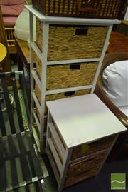 Sale 8523 - Lot 1094 - Two Pieces of Cane Furniture