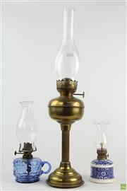 Sale 8546 - Lot 29 - Brass Kero Lamp and two others