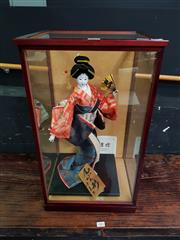 Sale 8672 - Lot 1001 - Japanese Doll in Glass Case