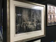 Sale 8674 - Lot 2065 - The Jubilee Celebration in Westminster, Abbey, June 21st 1887, lithograph (A/F), pub. 1890, frame 112 x 128.5cm