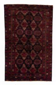 Sale 8800C - Lot 137 - A Persian Baluchi Tribal Hand Knotted Wool Rug, 116 x 216cm