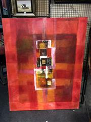 Sale 8853 - Lot 2047 - Artist Unknown - Abstract (Red Composition) acrylic and mixed media, unsigned -