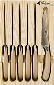 Sale 8975K - Lot 73 - Laguiole by Louis Thiers Mondial 6-Piece Steak Knife Set - stainless steel with rose gold finish