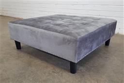 Sale 9146 - Lot 1077 - Fabric upholstered footstool (h34 x d90cm)